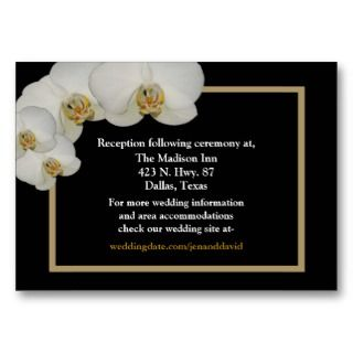 White Orchid enclosure cards Business Card