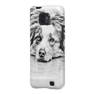 Australian Shepherd dog art Galaxy S2 Cover