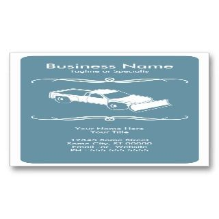 mod snow plow business card templates