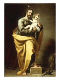 St Joseph with the Infant Christ Giclee Print by Alonso Cano