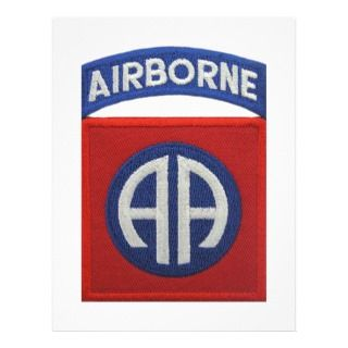 82nd Airborne Patch Letterhead Template