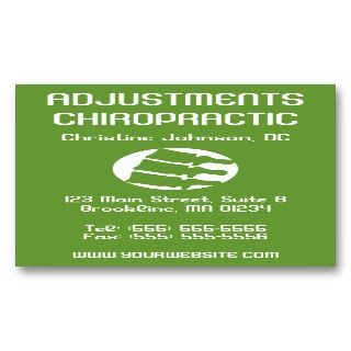 These customizable vertical chiropractic business cards feature