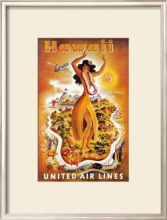United Airlines, Hula Dancer Pre made Frame