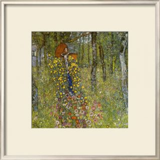 Farm Garden with Crucifix Framed Giclee Print