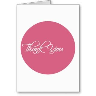 Rose Pink Circle Job Interview Thank You Card