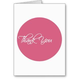 Rose Pink Circle Job Interview Thank You Card