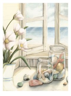 Small Beach House View I Giclee Print by Megan Meagher