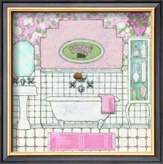 Pink Floral Wallpaper Pre made Frame