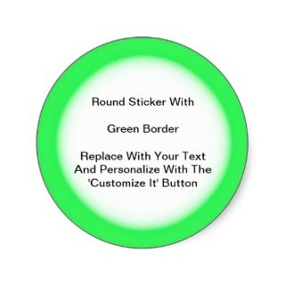 Circular Stickers With A Green Border In Sheets