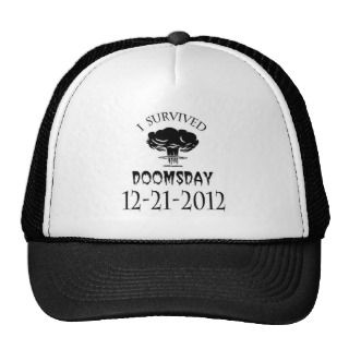 Survived Doomsday 2012 12 21 Mesh Hat