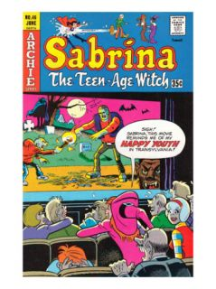 Archie Comics Retro Sabrina The Teenage Witch Comic Book Cover #46 (Aged) Print