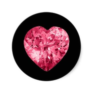 Pink Diamond Heart Sticker