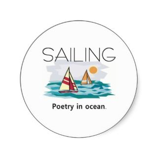 TOP Sailing, Poetry in Ocean Stickers