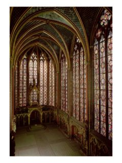 View of the Stained Glass Windows in the Upper Chapel, 1246 48 Giclee Print