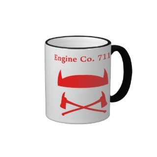 Volunteer Firefighter Custom Coffee Mug Template
