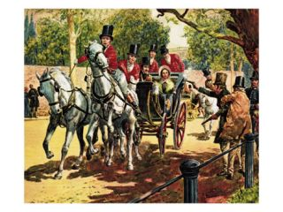 Edward Oxford Attempts to Assassinate Queen Victoria and Prince Albert Giclee Print by C.l. Doughty