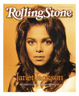 Janet Jackson, Rolling Stone no. 572, February 22, 1990 Wall Decal