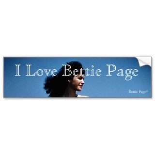 70   Bettie Page in a Blue Bikini Standing Beside Water Bumper Sticker