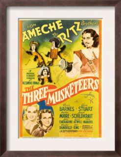 The Three Musketeers, the Ritz Brothers, Don Ameche, Gloria Stuart, Pauline Moore, 1939 Pre made Frame