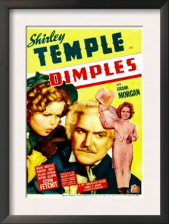 Dimples, Shirley Temple, Frank Morgan, Shirley Temple on Midget Window Card, 1936 Pre made Frame