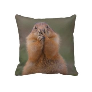 Prairie Dog and Funny Expression Pillows