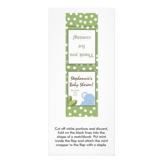 Safari Jungle Elephant Green Rack Card Template
