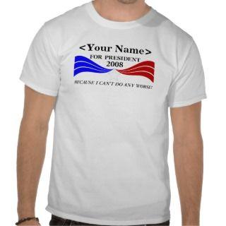 for President Template Shirt