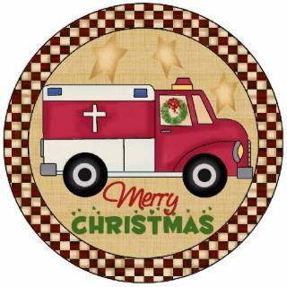 Paramedics Christmas Tree Ornament Cut Out