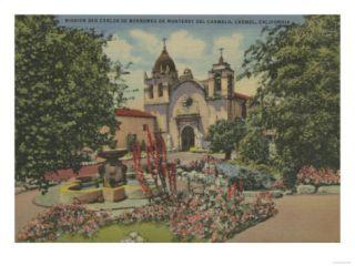 Carmel, CA   Mission San Carlos De Borromeo Del Carmelo Print