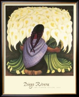 The Flower Seller, c.1942 Pre made Frame by Diego Rivera