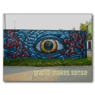 Graffiti street art   postcard template