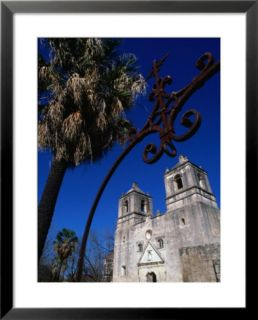 Mission Conception through Wrought Iron Gate, San Antonio, Texas Pre made Frame