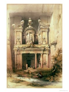 Petra, March 7th 1839, Plate 92 from Volume III of The Holy Land Giclee Print by David Roberts