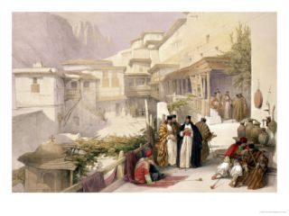 Convent of St. Catherine, Mount Sinai, February 17th 1839 Giclee Print by David Roberts