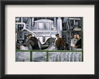 Diego Rivera Detroit Framed Giclee Print by Diego Rivera