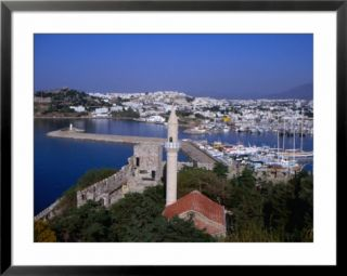 Marina from the Castle of St. Peter, Overing Salmakis Bay, Bodrum, Turkey Pre made Frame