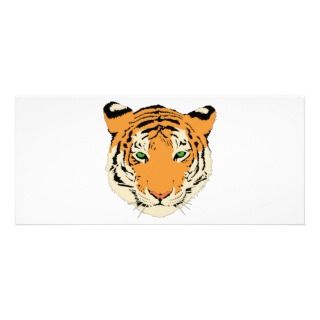 Tiger clip art personalized rack card