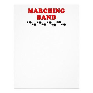Marching Band Footprints Letterhead Template