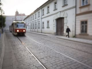 Tram, Mala Strana, Prague, Czech Republic Photographic Print by Jon Arnold