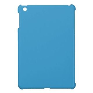 Solid Color Background Blue 3399CC Template iPad Mini Case