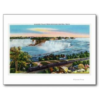 Michigan Central Train View of Niagara Falls Postcards