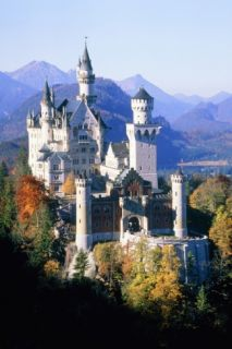 Neuschwanstein Castle in autumn, Bavaria, Germany Giant Art Print by Herbert Spichtinger
