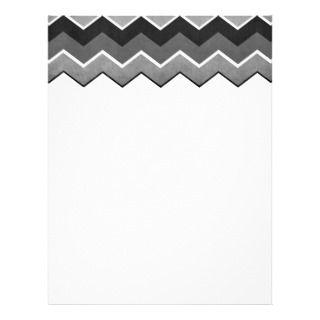 Black and White Zig Zag Pattern Custom Letterhead