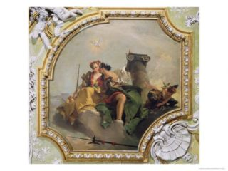 Fortitude and Justice, from the sala Capitolare Giclee Print by Giovanni Battista Tiepolo
