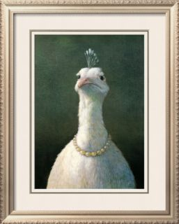 Fowl with Pearls Pre made Frame