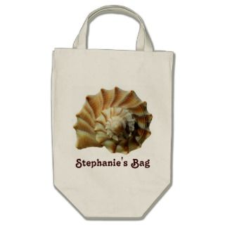 Spiral Beach Shell Personalized Bag