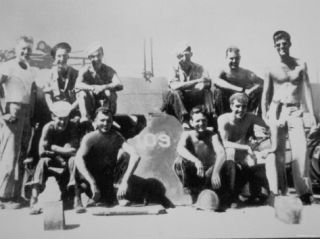 Lieutenant John F. Kennedy with the Crew of His Patrol Torpedo Boat PT 109, July 1943 Photographic Print