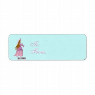 Pink Fairytale Princess Gift Tags Custom Return Address Label