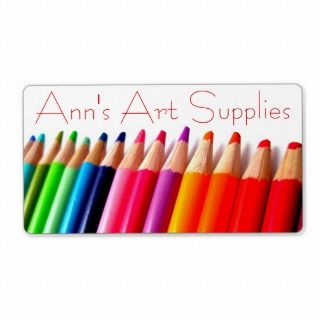 Rainbow Colored Pencils Labels