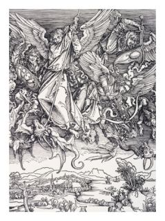 St. Michael Slaying the Dragon Giclee Print by Albrecht Durer